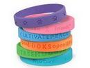 Custom Debossed Silicone Wristbands, 8