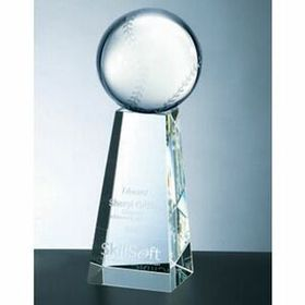 Baseball Award w/Tall Base (Large) - Screened, Price/piece