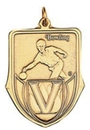 Custom 100 Series Stock Medal (Male Bowling) Gold, Silver, Bronze