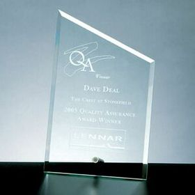 Beveled Sail Award w/ Aluminum Pole (Screened), Price/piece