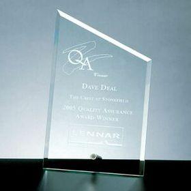 Beveled Sail Award w/ Aluminum Pole (Screened), Price/piece