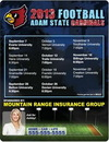 Custom Round Corners Sports Schedule Magnet (8 1/2