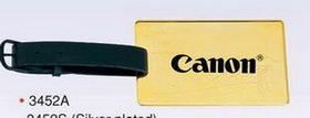 "3-1/8""x1-15/16"" Gold Plated Brass Luggage/ Golf Tag, Price/piece"