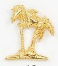 Custom Palm Trees Stock Cast Pin