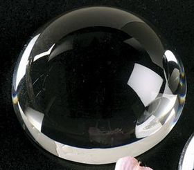 "Dome Magnifier Crystal Paperweight (4""), Price/piece"