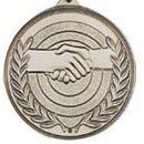 Custom 500 Series Stock Medal (Handshake) Gold, Silver, Bronze