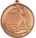 Custom 500 Series Stock Medal (Female Volleyball Player) Gold, Silver, Bronze