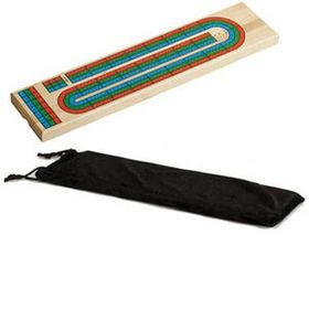 3 Color Track Wooden Cribbage Board (Screen), Price/piece