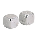 Nickel Plated Salt & Pepper Dice Shaker Set