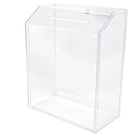 "Large Clear Ballot Box (6"" Deep), Price/piece"