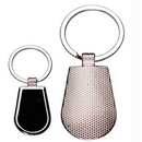 Custom Rounded Metal Key Chain w/ Dark Reflective Center (Engraved), 2