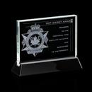 Custom Starfire Walkerton Award w/ Rosewood or Black Wood Base (5
