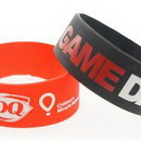 Custom Broad Recycled Silicone Wrist Band with Printed Logo, 8