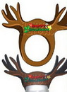 Custom Foam Full Color Reindeer Antlers Visor