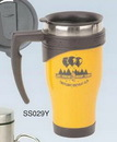 Custom 16 Oz. Yellow Color Coated Stainless Steel Mug (Screened)