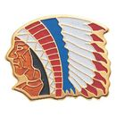Indian Chief Mascot EM Series Pin