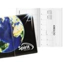 Custom Inspire World Horizontal Monthly Pocket Planner, 3 5/8