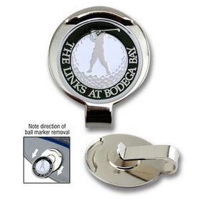 "Golf Hat Clip with Custom Ball Marker (3/4""), Price/piece"