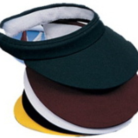 Colored Cotton Twill Slip-On Visor w/ Terry Inside Band, Price/piece