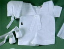 Baby Boutross Linen Romper Set With Swiss Dot (12m)
