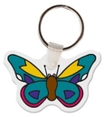 Gemini Custom Soft Vinyl Butterfly Key Tag, 2.35