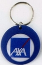 Custom Round Rubber Key Chains w/ Label & Dome