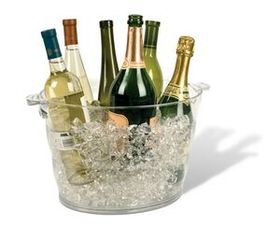 Monterey Jumbo Oval Acrylic Wine Cooler (Laser Engraved), Price/piece