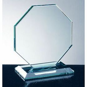 Octagon W/ Slant Edge Base Award (Large) - Screened, Price/piece
