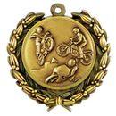 Custom Stock Motorcycling Medal w/ Wreath Edge (1 1/2