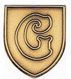 "Stock Alphabet Insert 11/16"" (Letter ""G"") Gold, Silver or Bronze, Price/piece"