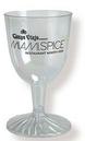 Custom 5 Oz. Plastic Wine Glass Stemware (2 Piece) Express Line