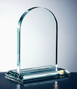 Custom Egyptian Arch Award - Jade Glass (8