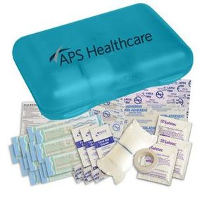 "Evans Pro Care First Aid Kit, Screen Printed, 4 1/2"" H X 6"" W X 1 1/2"" D, Price/piece"
