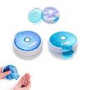 Custom 7 Days Round Tray Pill Box Medicine Travel Case Rotating Portable Kit Dispenser, 3 1/2