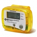 Custom Translucent Yellow Pedometer V2, 1 7/8