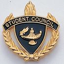 Blank Fully Modeled Epoxy Enameled Scholastic Award Pins (Student Council), 7/8