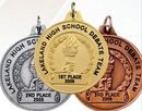 Custom Achievement Award Medal w/ School Name & Placement Date (1 1/2