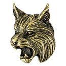 Custom Bob Cat Mascot Fully Modeled 3 Dimensional Pin