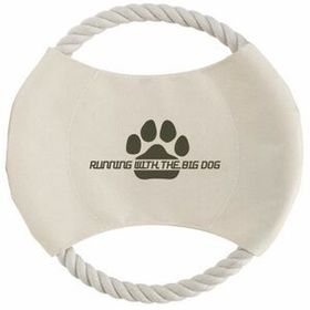 "Illini Toss N Chew Dog Disc Toy, Pad Printed, 8 3/4"" L X 8 1/4"" W X 3/4"" H, Price/piece"