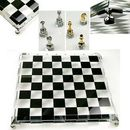 Custom High end Genuine Crystal Chess Board and Chessman(sand blasted)