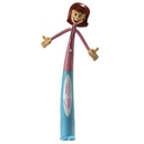Custom Female Health Care Professional Bend-A-Pen (Spot Printed)