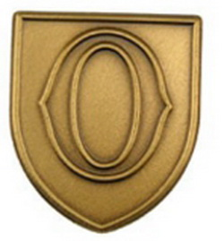 "Stock Alphabet Insert 11/16"" (Letter ""O"") Gold, Silver or Bronze, Price/piece"