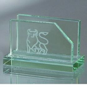 Jade Glass Business Card Holder (Screened), Price/piece
