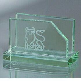 Jade Glass Business Card Holder (Screened), Price/piece