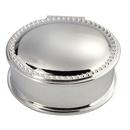 Custom Silver Plated Oval Bead Box