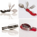 Custom 3 in 1 Durable Camping Cutlery Set, 4