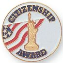 Blank Epoxy Enameled Scholastic Award Pin (Citizenship Award), 7/8