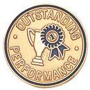 Blank Epoxy Enameled Scholastic Award Pin (Outstanding Performance), 7/8