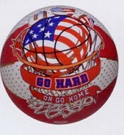"29.5"" Men's Red/White Flag Basketball, Price/piece"