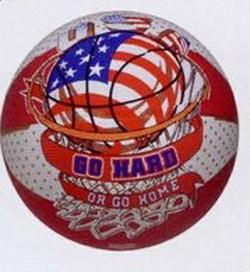 "29.5"" Men's Red/White Flag Basketball, Price/piece"